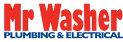 mr washer plumbing and electrical logo