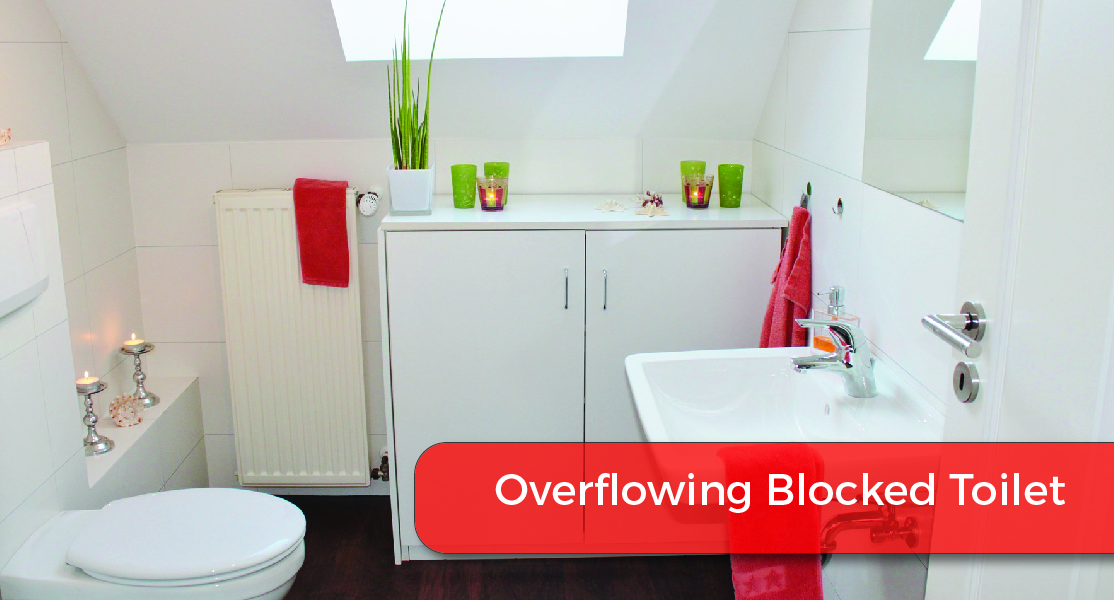 overflowing blocked toilet